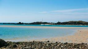 Iles de Chausey低潮群岛(1) 库存图片