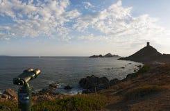 Iles Sanguinaires,阿雅克修,可西嘉岛, Corse,法国,欧洲,海岛海湾  库存照片