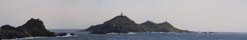 Iles Sanguinaires, Κόλπος του Ajaccio, Κορσική, Κορσική, Γαλλία, Ευρώπη, νησί Στοκ εικόνα με δικαίωμα ελεύθερης χρήσης