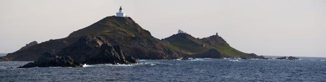 Iles Sanguinaires, Κόλπος του Ajaccio, Κορσική, Κορσική, Γαλλία, Ευρώπη, νησί Στοκ Εικόνα