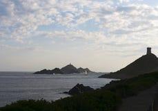 Iles Sanguinaires, залив Аяччо, Корсики, Corse, Франции, Европы, острова Стоковые Фотографии RF