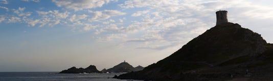 Iles Sanguinaires, залив Аяччо, Корсики, Corse, Франции, Европы, острова Стоковое Фото