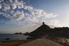 Iles Sanguinaires, залив Аяччо, Корсики, Corse, Франции, Европы, острова Стоковая Фотография RF