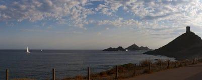 Iles Sanguinaires, залив Аяччо, Корсики, Corse, Франции, Европы, острова Стоковое Изображение
