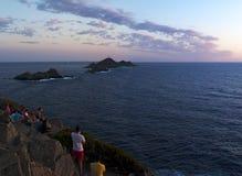 Iles Sanguinaires, zatoka Ajaccio, Corsica, Corse, Francja, Europa, wyspa Fotografia Royalty Free
