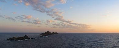 Iles Sanguinaires, zatoka Ajaccio, Corsica, Corse, Francja, Europa, wyspa Zdjęcie Royalty Free