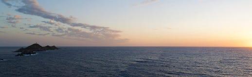 Iles Sanguinaires, zatoka Ajaccio, Corsica, Corse, Francja, Europa, wyspa Fotografia Stock