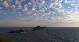 Iles Sanguinaires, zatoka Ajaccio, Corsica, Corse, Francja, Europa, wyspa Zdjęcie Stock