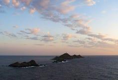 Iles Sanguinaires, zatoka Ajaccio, Corsica, Corse, Francja, Europa, wyspa Obraz Stock