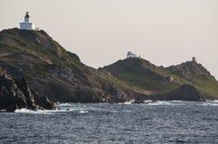 Iles Sanguinaires, zatoka Ajaccio, Corsica, Corse, Francja, Europa, wyspa Zdjęcia Royalty Free