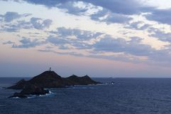 Iles Sanguinaires, zatoka Ajaccio, Corsica, Corse, Francja, Europa, wyspa Obrazy Stock