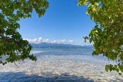 Ilet du Gosier - остров Gosier - Le Gosier - остров Гваделупы карибский Стоковые Изображения
