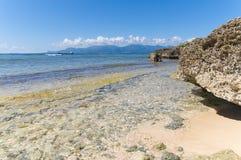 Ilet du Gosier - остров Gosier - Le Gosier - остров Гваделупы карибский Стоковое фото RF