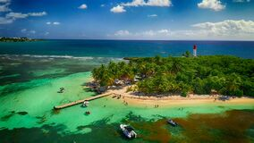 Ilet Du Gosier Lighthouse, French Caribbean Islands Of Guadeloupe: Basse-Terre, Grande-Terre, Marie-Galante, Les Saintes Stock Photography