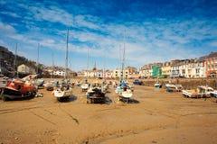 Ilfracombe boats, North Devon stock image