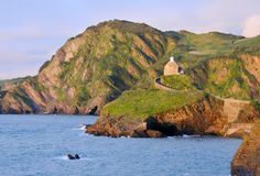 Ilfracombe Coastline Royalty Free Stock Photos