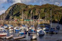 ILFRACOMBE, DEVON/UK - 19. OKTOBER: Ansicht von Ilfracombe-Hafen O lizenzfreies stockfoto