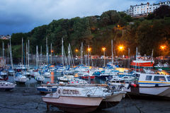 ILFRACOMBE, DEVON/UK, View of Ilfracombe harbour at stock image