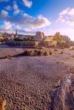 Ilfracombe miasteczko Widok od Capstone wzgórza niebo, chmury niebieski Fotografia Royalty Free