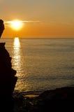 Ilfracombe sea sunset 2 Stock Photography