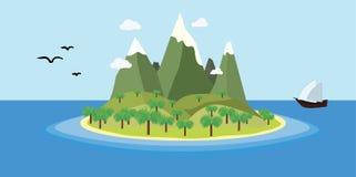 ilha imagem de stock