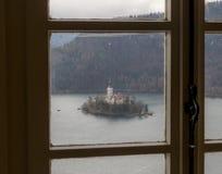 A ilha Bled Fotografia de Stock Royalty Free