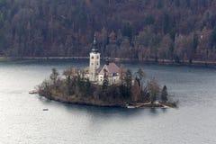 A ilha Bled Imagem de Stock Royalty Free