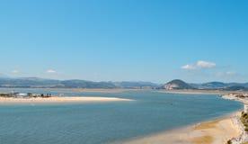 Ilha bonita da areia fotos de stock royalty free