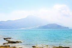 Ilha bonita de Gramvousa, mar azul de cristal - Grécia Fotografia de Stock Royalty Free