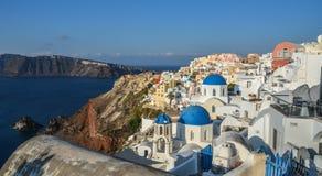 Ilha bonita de Santorini, Grécia foto de stock