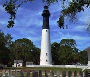 Ilha Carolina Lighthouse sul da caça fotografia de stock