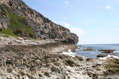 Ilha Cliff Shoreline de Brac do caimão Imagens de Stock Royalty Free