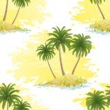 Ilha com as palmas sem emenda Fotografia de Stock Royalty Free