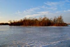 Ilha congelada grande Foto de Stock Royalty Free