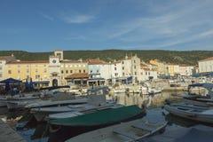 Ilha Cres no mar de adriático, Croácia Fotografia de Stock