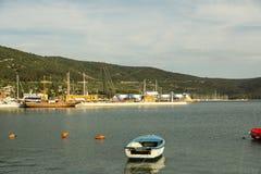Ilha Cres no mar de adriático, Croácia Imagem de Stock