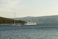 Ilha Cres no mar de adriático, Croácia Fotos de Stock Royalty Free