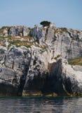 Ilha croata desinibido no mediterrâneo Fotos de Stock