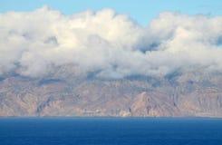 Ilha DA Brava und Wolken Stockfotografie