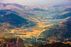 Ilha da Creta do platô de Lassithi, Grécia Fotos de Stock Royalty Free