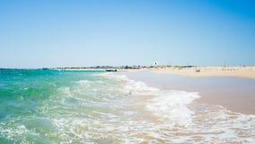 Ilha Da Fuzeta Beach Dunes In Portugal Stock Image
