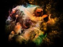 Ilha da nebulosa do Fractal ilustração stock