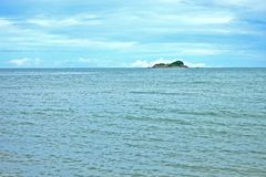 Ilha da paisagem de Sandy Coastline Horizon Beach Ripples fotos de stock