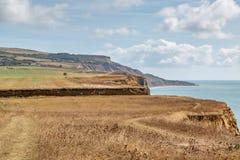 Ilha da paisagem litoral do Wight imagens de stock