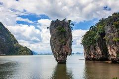 Ilha da pedra de Tailândia James Bond, Phang Nga fotografia de stock