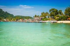 Ilha da phi da phi no mar de andaman, Phuket, Krabi, Tailândia Fotografia de Stock