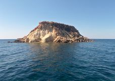 Ilha da rocha Imagens de Stock Royalty Free
