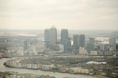 Ilha da skyline dos cães, Londres Foto de Stock