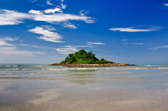 Ilha das Cabras. Island in Itanhaem city (Brazil Stock Photography