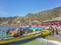 Ilha das Caraíbas aglomerada em Colômbia Imagem de Stock